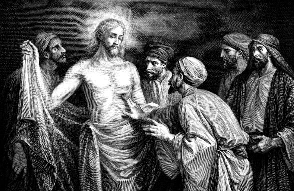 Jesus Christ Answers Doubts of Saint Thomas