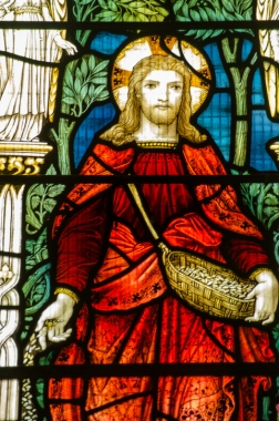 Christ Sowing Seeds, Stained Glass Window