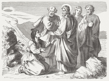 Jesus and the Canaanite woman (Matthew 15), published in 1877