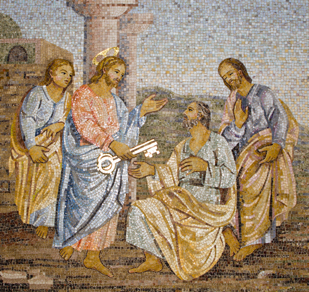 Rome - Mosaic from st. Peters cathedral
