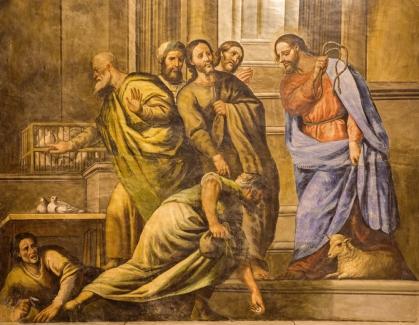 Granada - fresco Jesus Cleanses the Temple